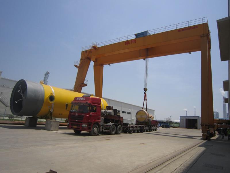 600吨大型化工容器设备顺利安全装船