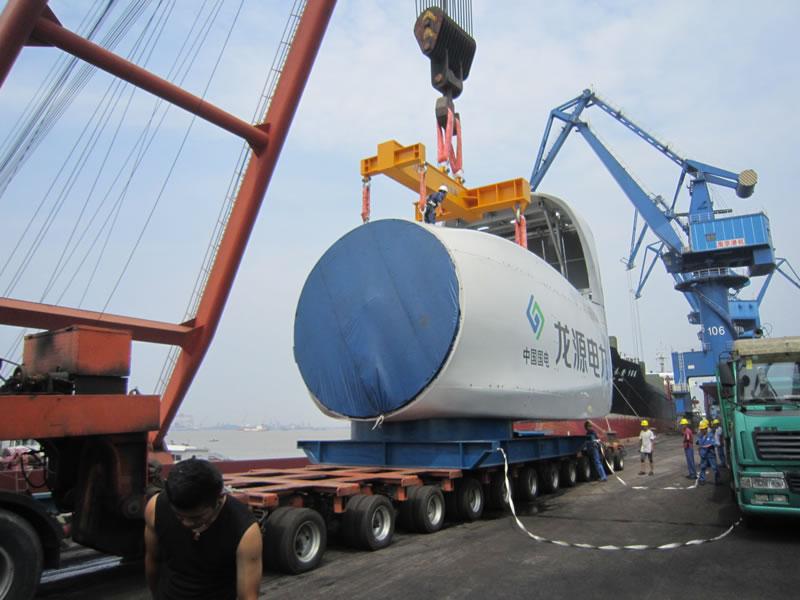 150吨重大件风力发电机顺利发运