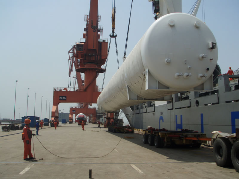 Over-sized cargos project:Loading of chemical equipment