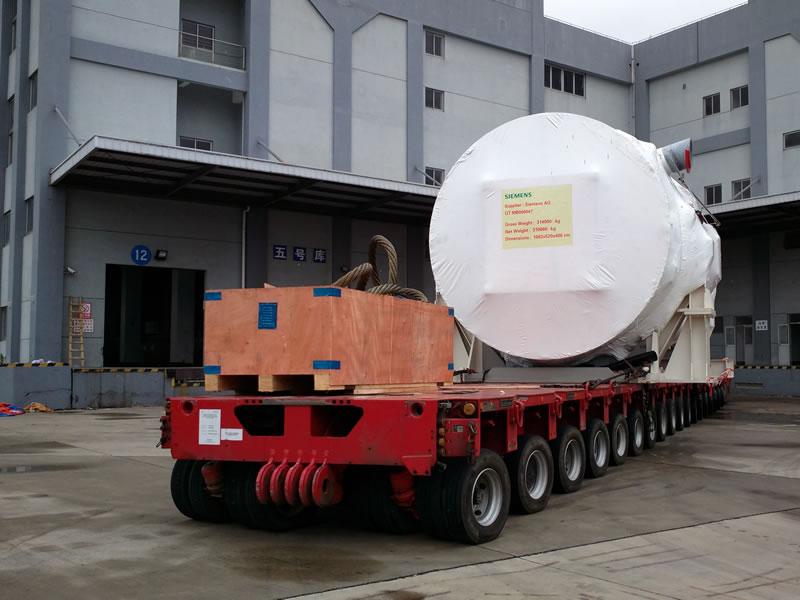 Safe transportation of 700T gas turbine by SPMT